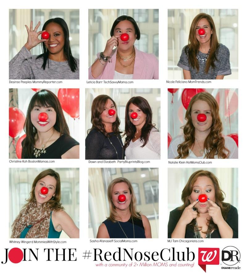 Influencer Moms Spreading  #RedNose #RedNoseClub Awareness